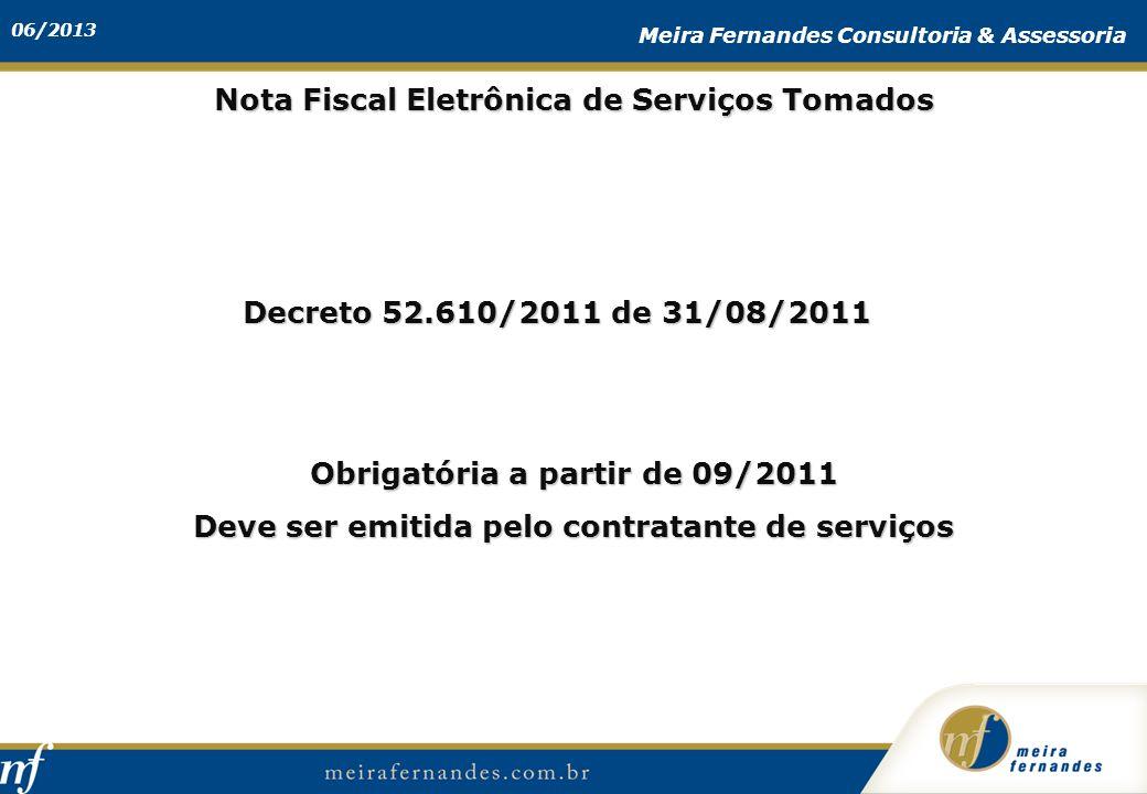 Nota Fiscal Eletrônica de Serviços Tomados