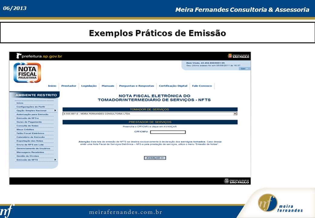 Exemplos Práticos de Emissão