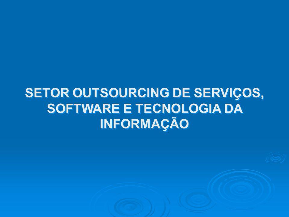 SETOR OUTSOURCING DE SERVIÇOS, SOFTWARE E TECNOLOGIA DA INFORMAÇÃO