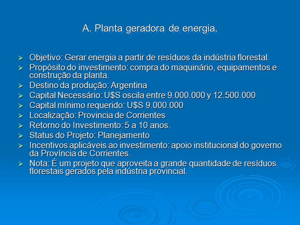 A. Planta geradora de energia.