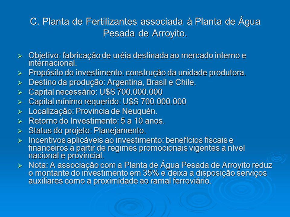 C. Planta de Fertilizantes associada à Planta de Água Pesada de Arroyito.