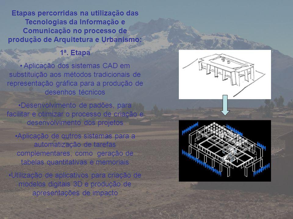 Etapas percorridas na utilização das Tecnologias da Informação e Comunicação no processo de produção de Arquitetura e Urbanismo: