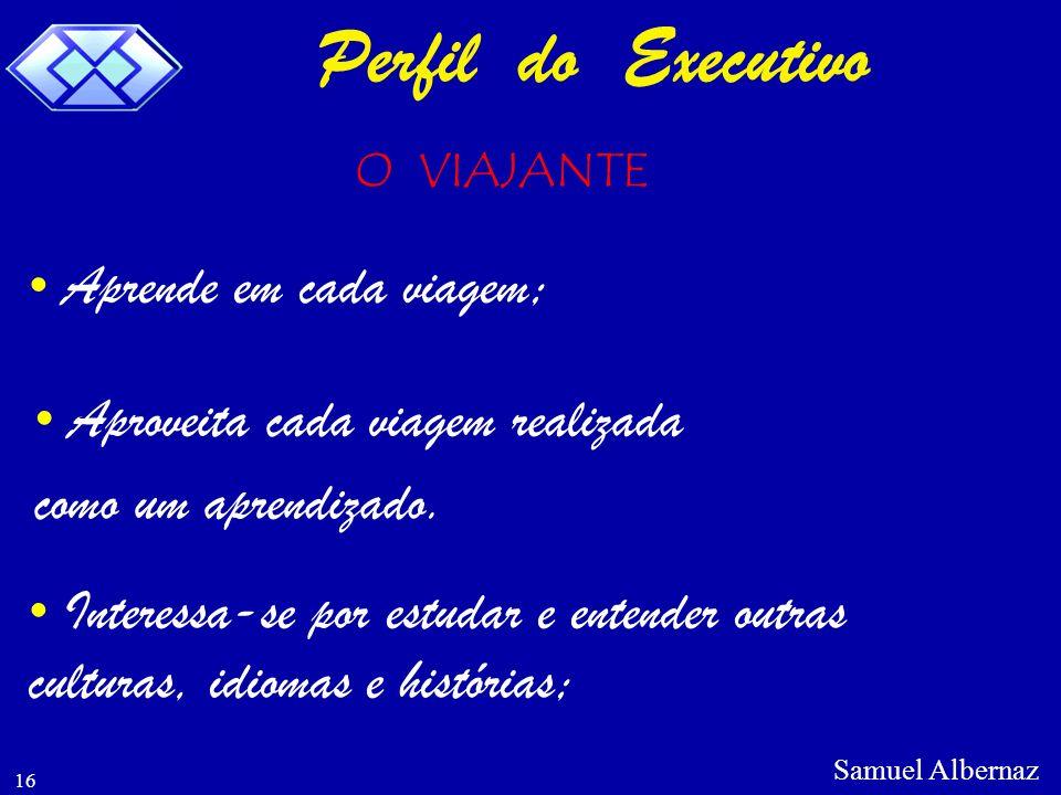 Perfil do Executivo Aprende em cada viagem;