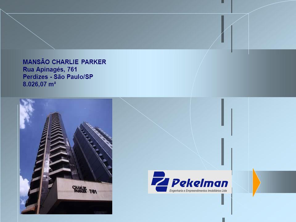 MANSÃO CHARLIE PARKER Rua Apinagés, 761 Perdizes - São Paulo/SP 8.026,07 m²