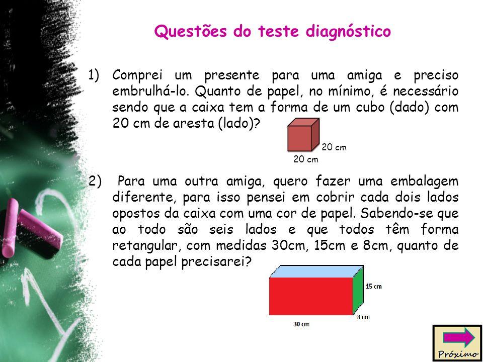 Questões do teste diagnóstico