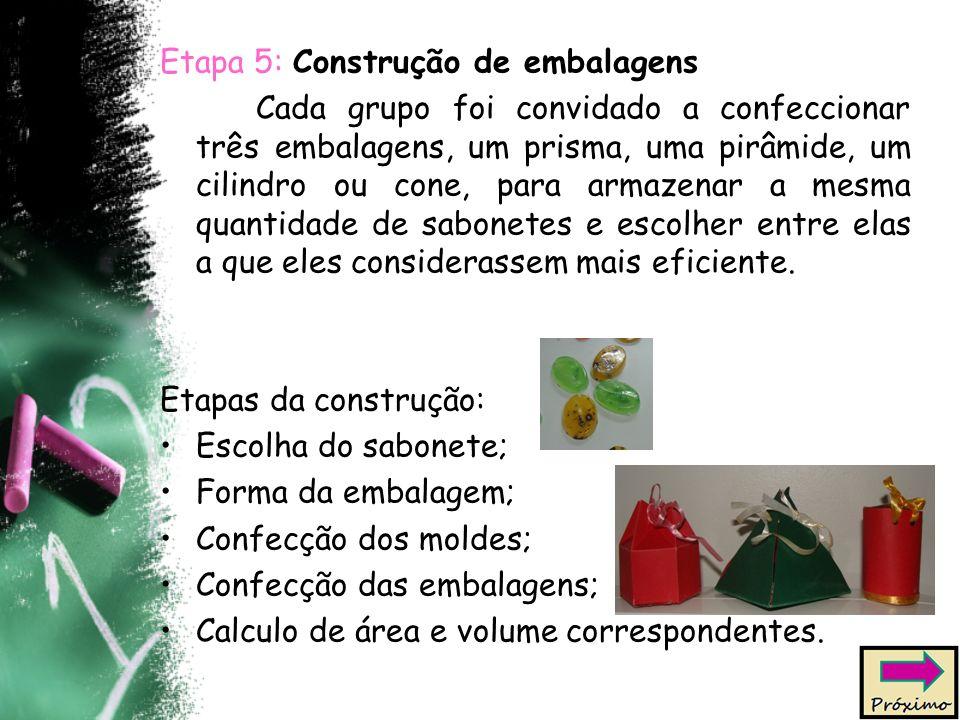 Etapa 5: Construção de embalagens