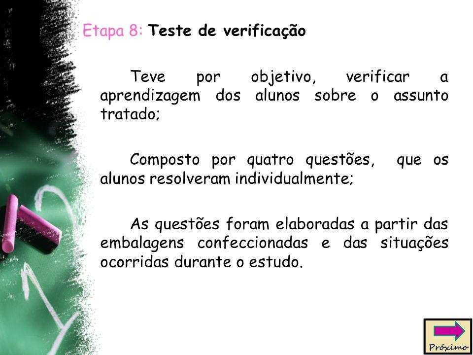 Etapa 8: Teste de verificação