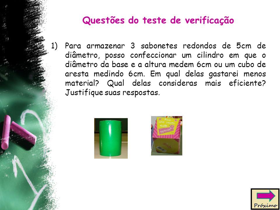 Questões do teste de verificação