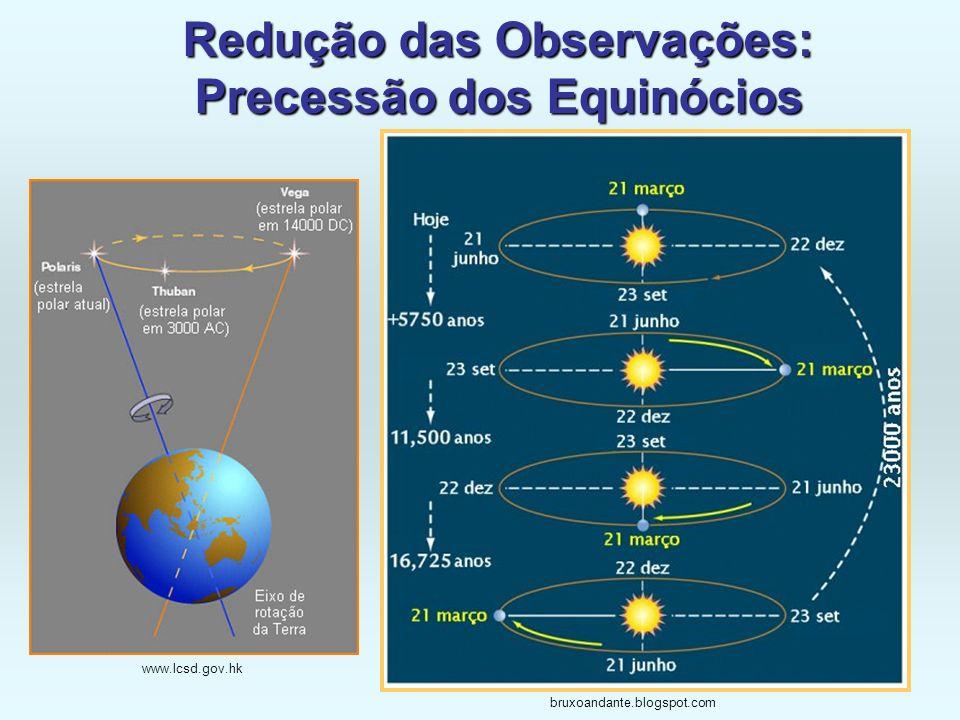 Redução das Observações: Precessão dos Equinócios