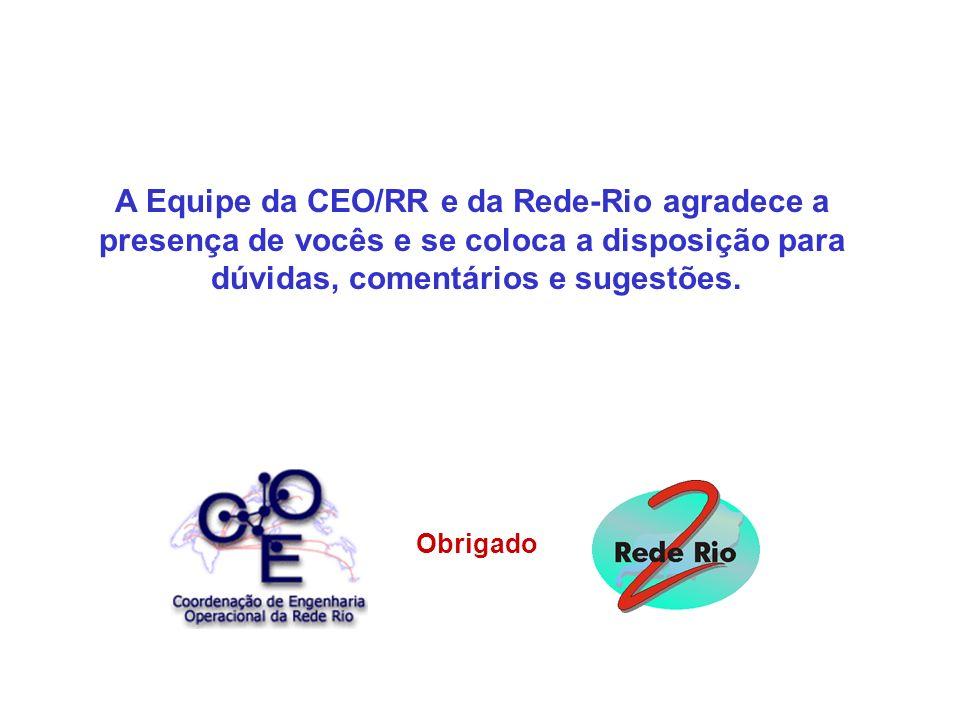 A Equipe da CEO/RR e da Rede-Rio agradece a