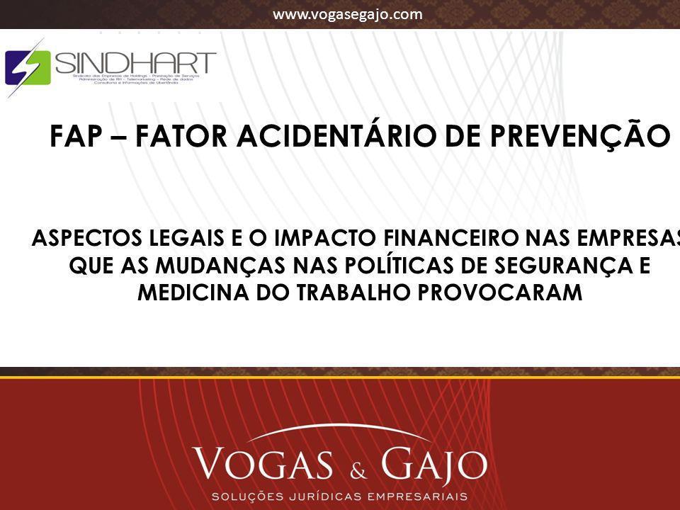 FAP – FATOR ACIDENTÁRIO DE PREVENÇÃO
