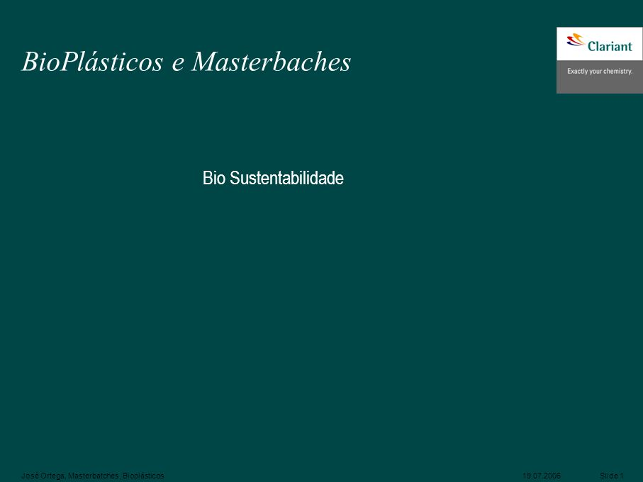 BioPlásticos e Masterbaches