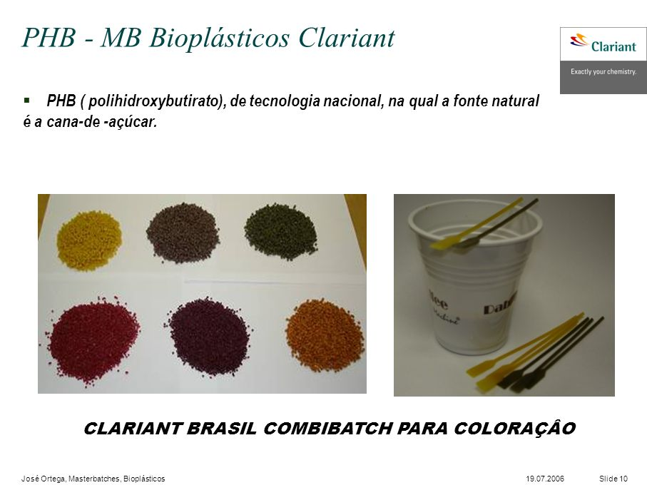 PHB - MB Bioplásticos Clariant