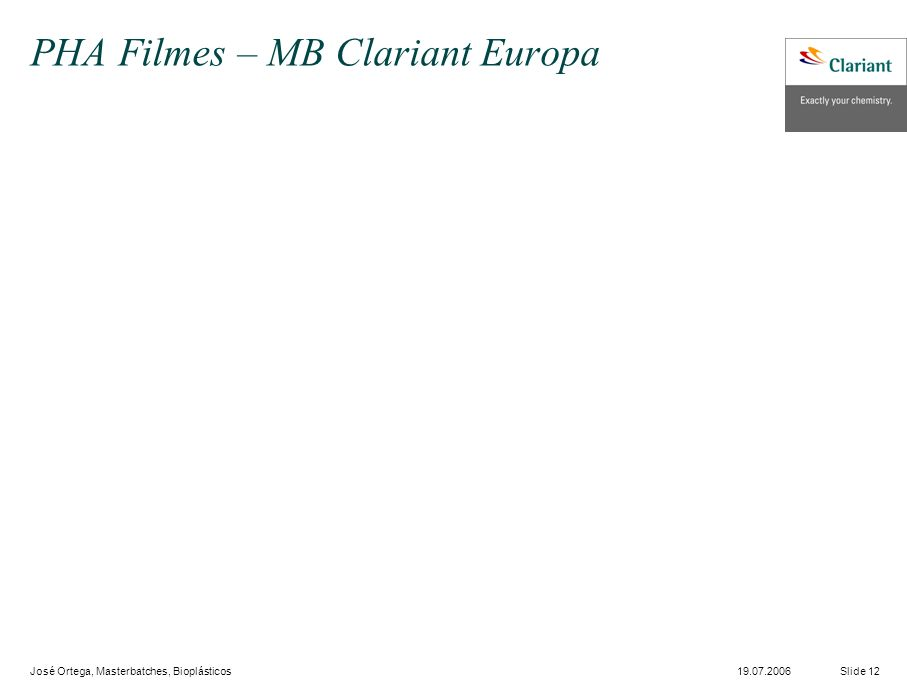 PHA Filmes – MB Clariant Europa
