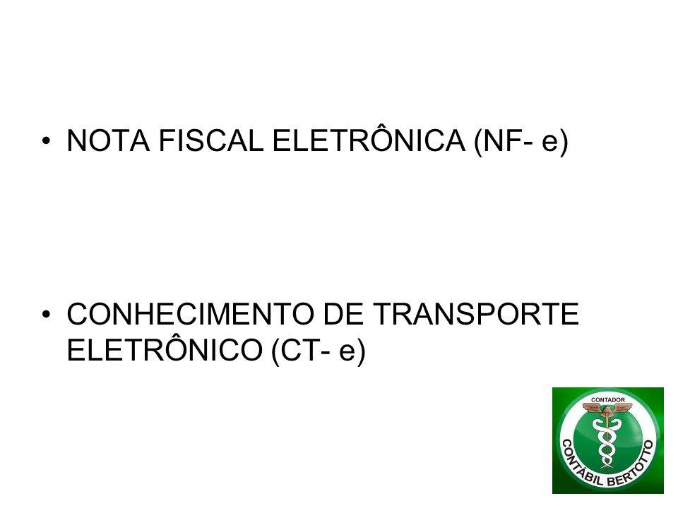 NOTA FISCAL ELETRÔNICA (NF- e)