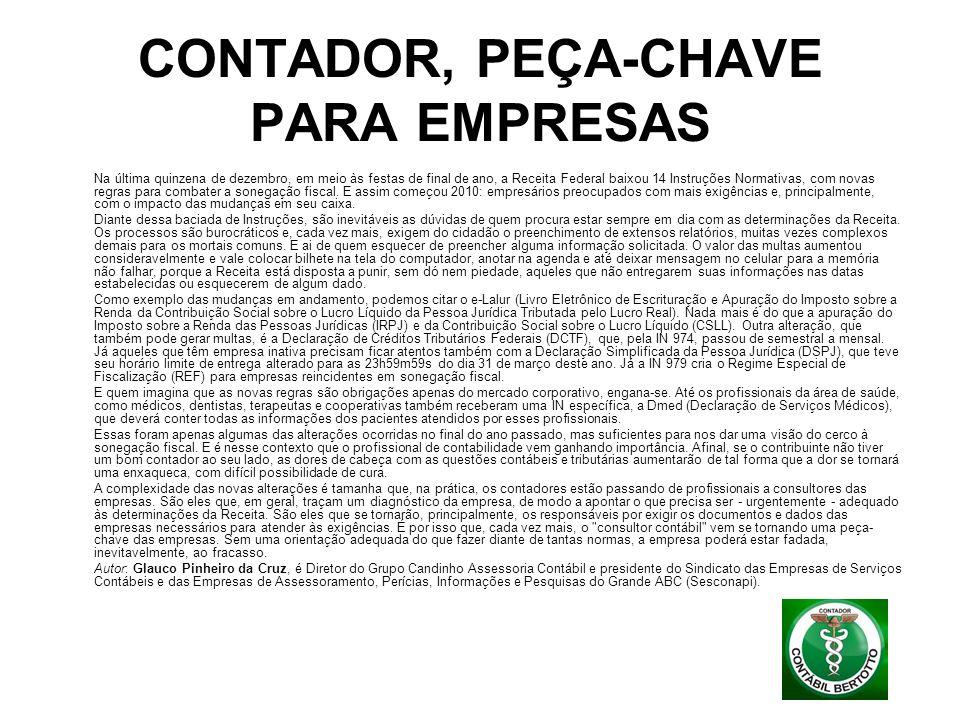 CONTADOR, PEÇA-CHAVE PARA EMPRESAS