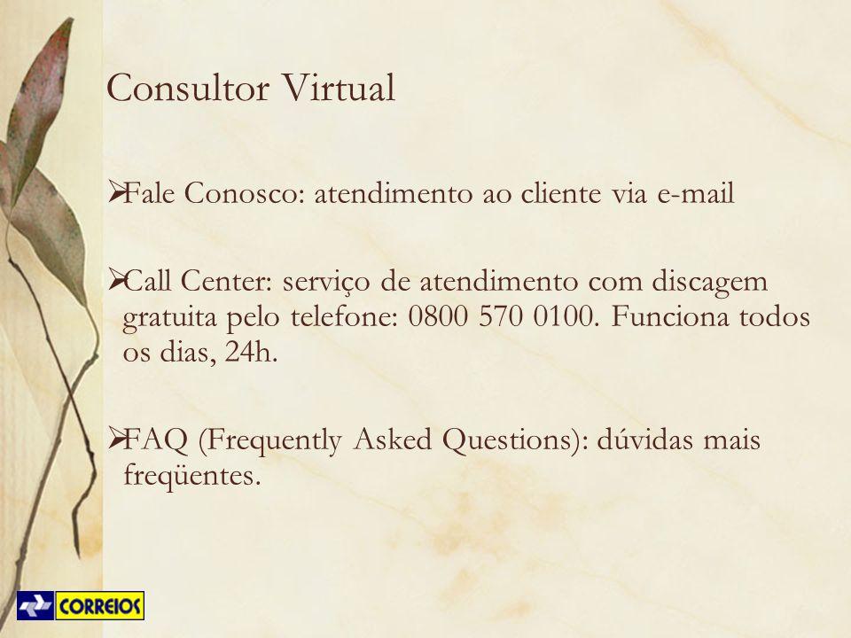 Consultor Virtual Fale Conosco: atendimento ao cliente via e-mail
