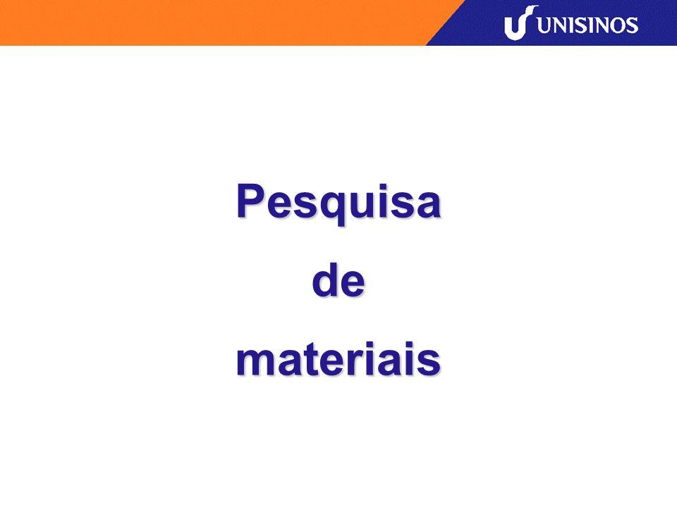 Pesquisa de materiais