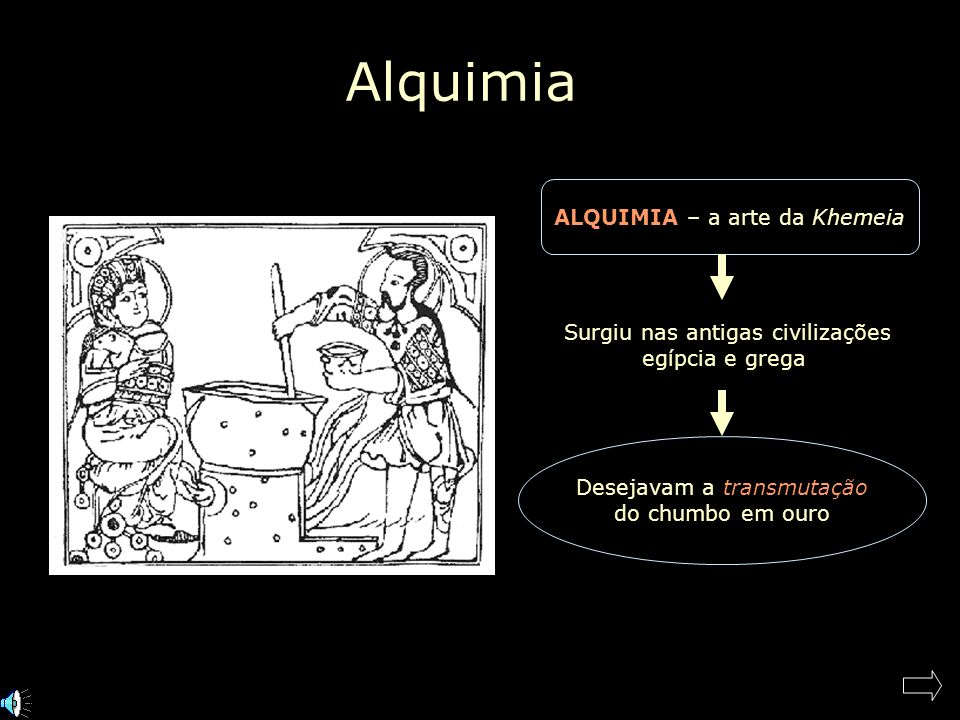 Alquimia ALQUIMIA – a arte da Khemeia Surgiu nas antigas civilizações