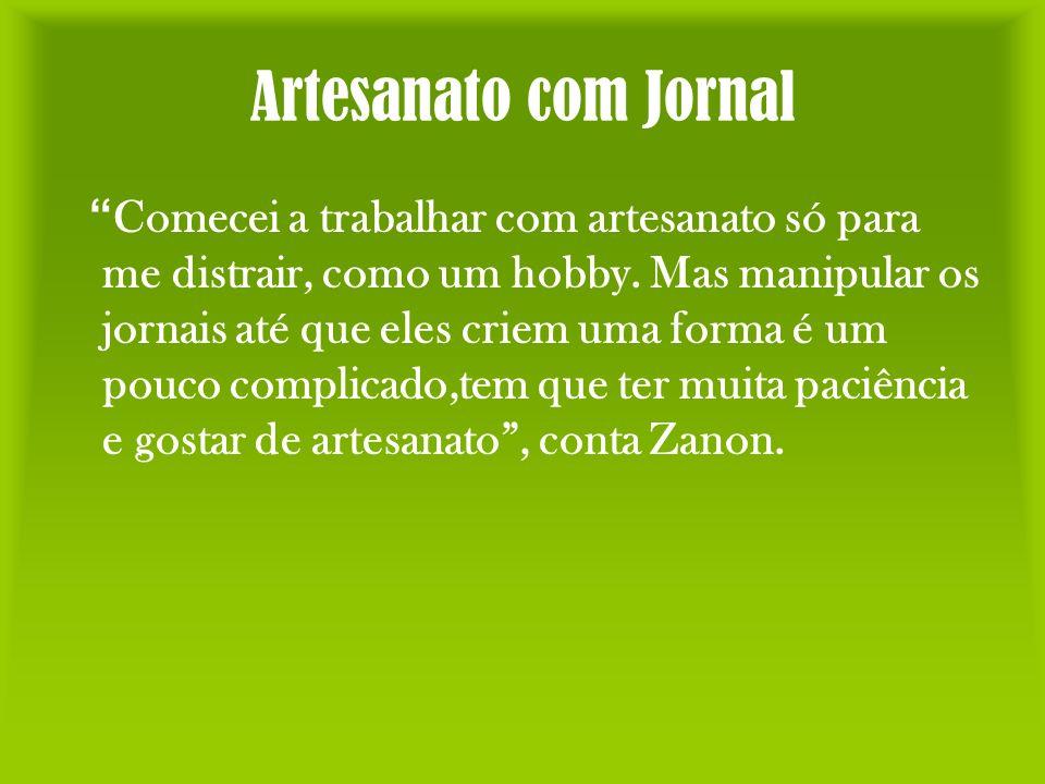 Artesanato com Jornal