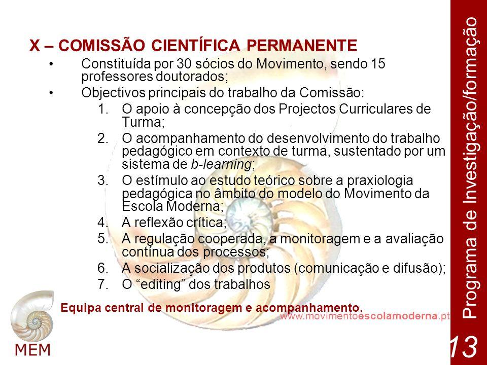 X – COMISSÃO CIENTÍFICA PERMANENTE