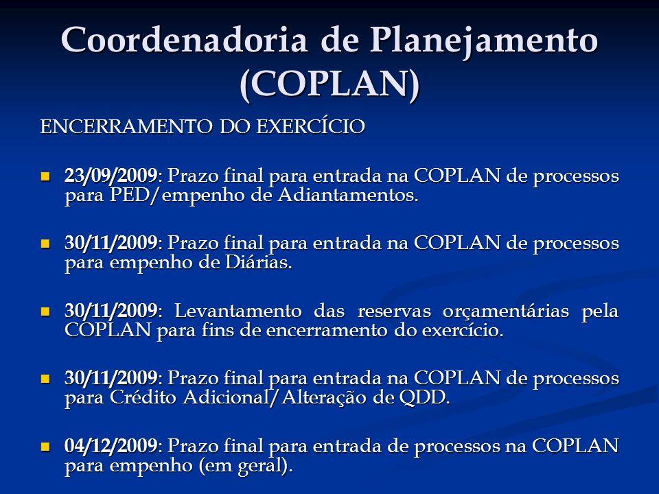 Coordenadoria de Planejamento (COPLAN)