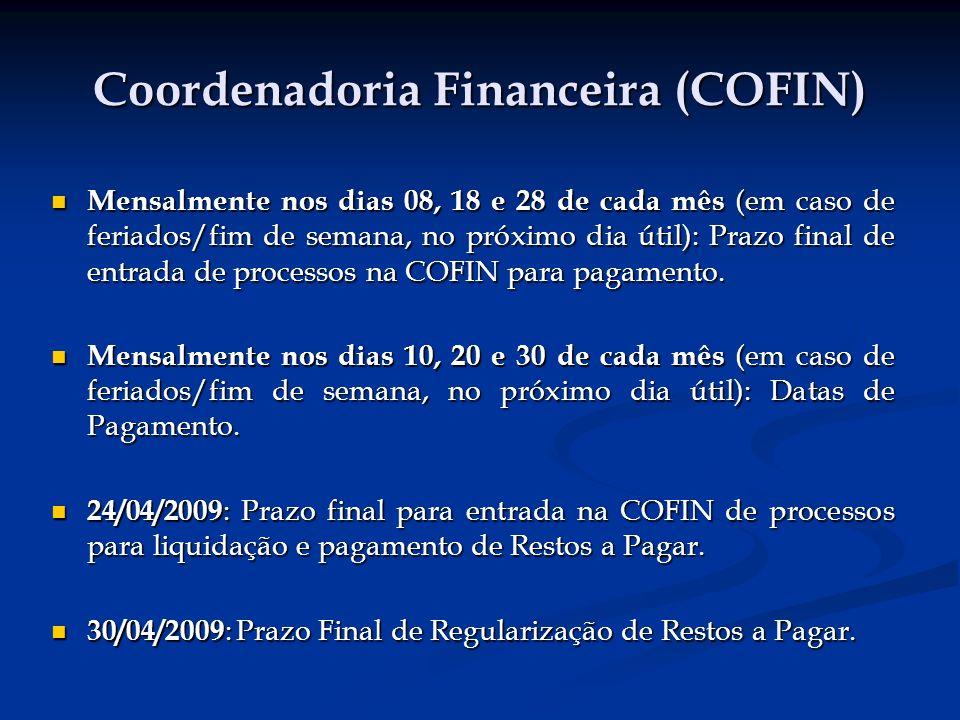 Coordenadoria Financeira (COFIN)