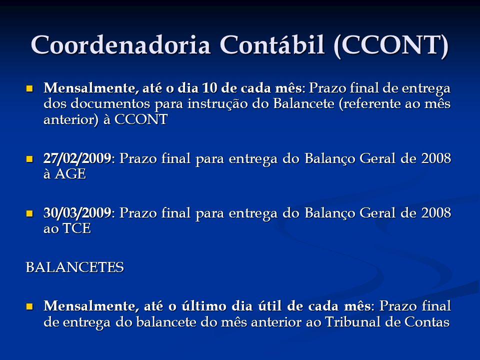 Coordenadoria Contábil (CCONT)