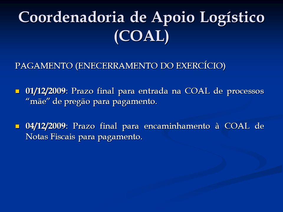 Coordenadoria de Apoio Logístico (COAL)