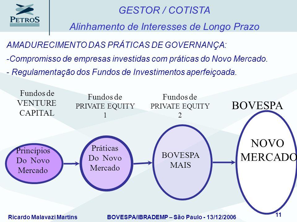 BOVESPA NOVO MERCADO GESTOR / COTISTA