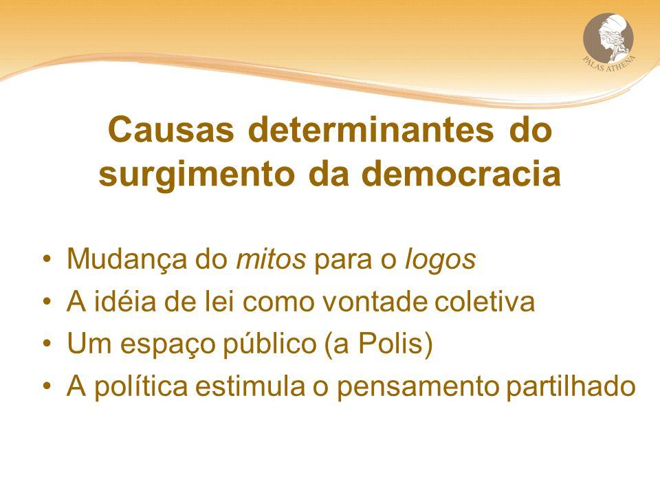 Causas determinantes do surgimento da democracia