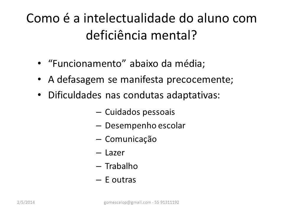 Como é a intelectualidade do aluno com deficiência mental
