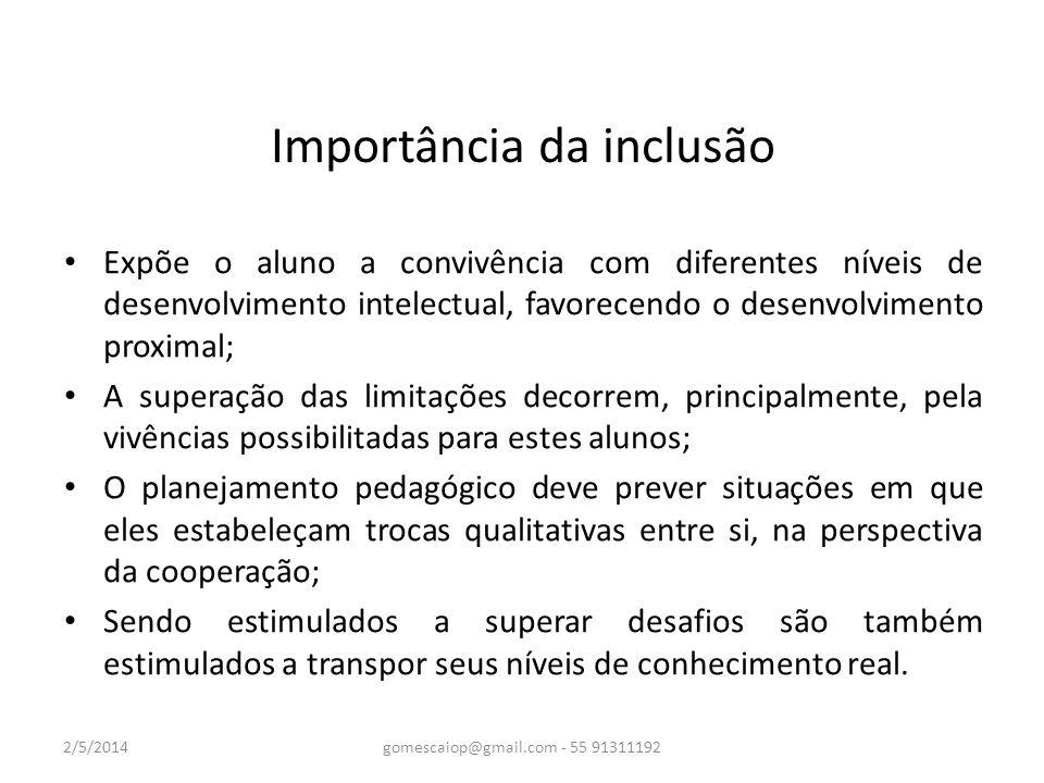 Importância da inclusão