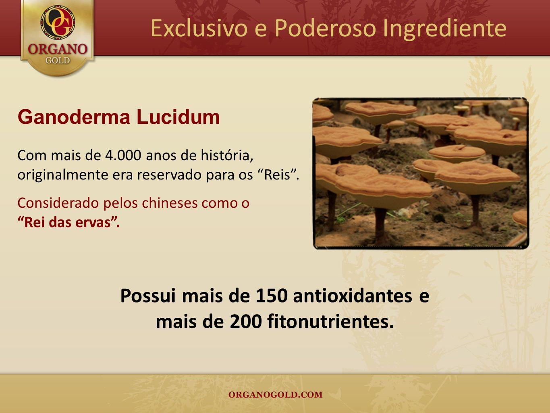 Possui mais de 150 antioxidantes e mais de 200 fitonutrientes.