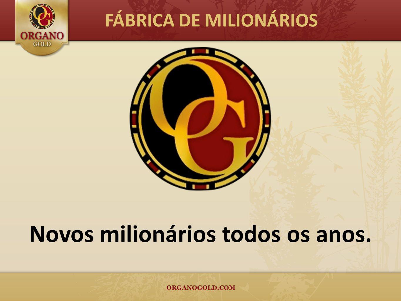 Novos milionários todos os anos.