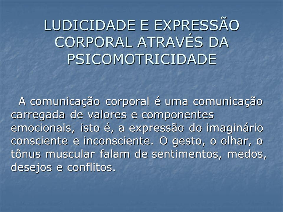 LUDICIDADE E EXPRESSÃO CORPORAL ATRAVÉS DA PSICOMOTRICIDADE
