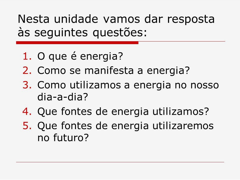 Nesta unidade vamos dar resposta às seguintes questões: