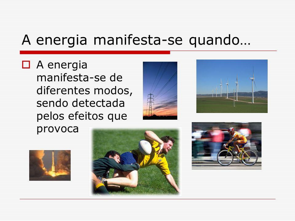 A energia manifesta-se quando…