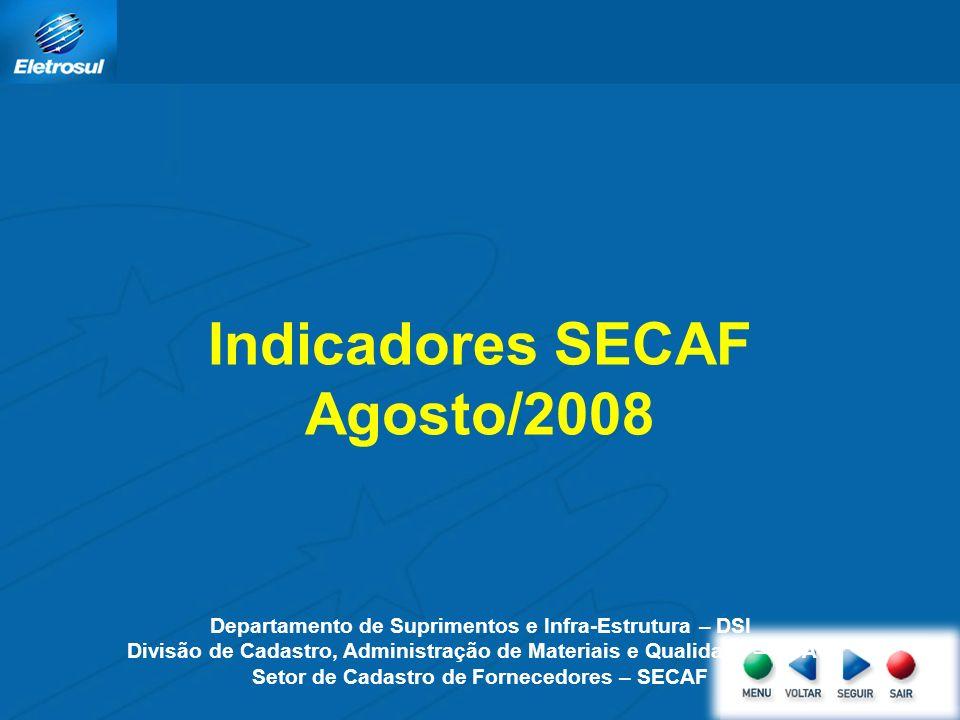 Indicadores SECAF Agosto/2008