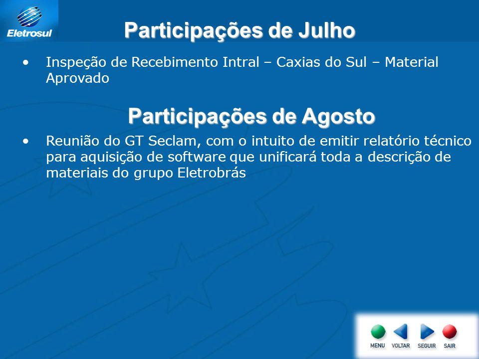 Participações de Julho