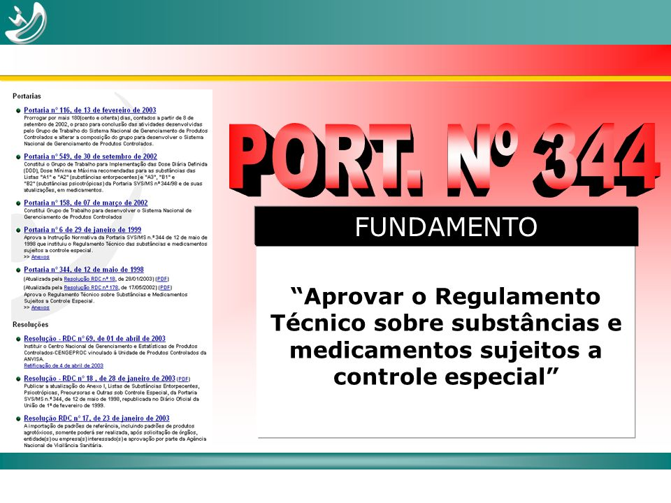 PORT. Nº 344 FUNDAMENTO.