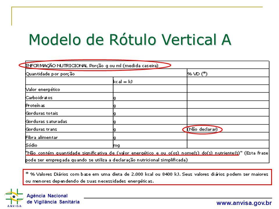 Modelo de Rótulo Vertical A