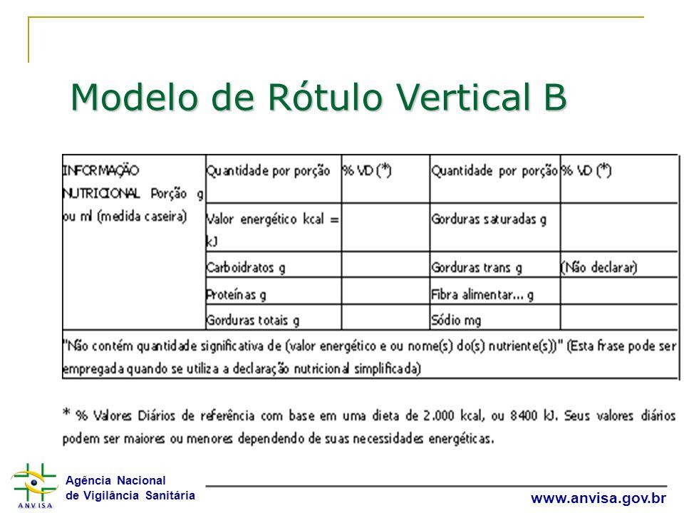 Modelo de Rótulo Vertical B