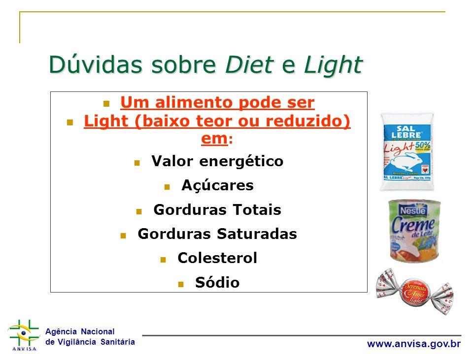 Light (baixo teor ou reduzido) em:
