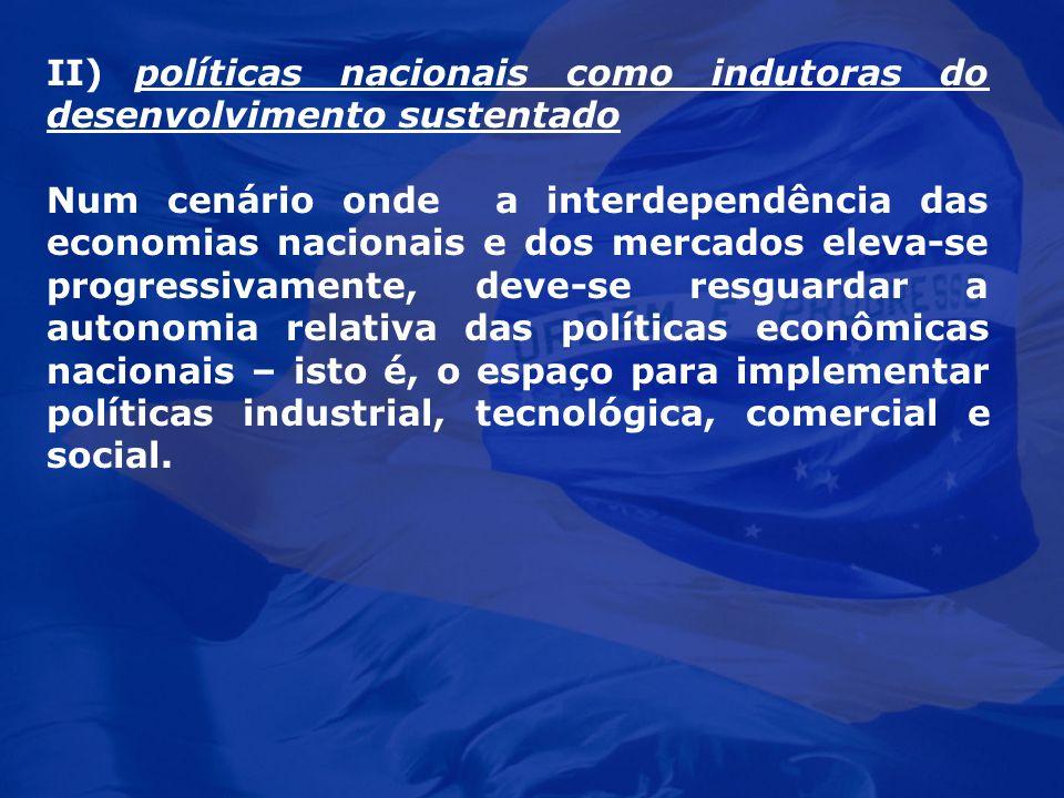 II) políticas nacionais como indutoras do desenvolvimento sustentado