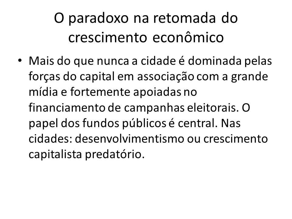 O paradoxo na retomada do crescimento econômico