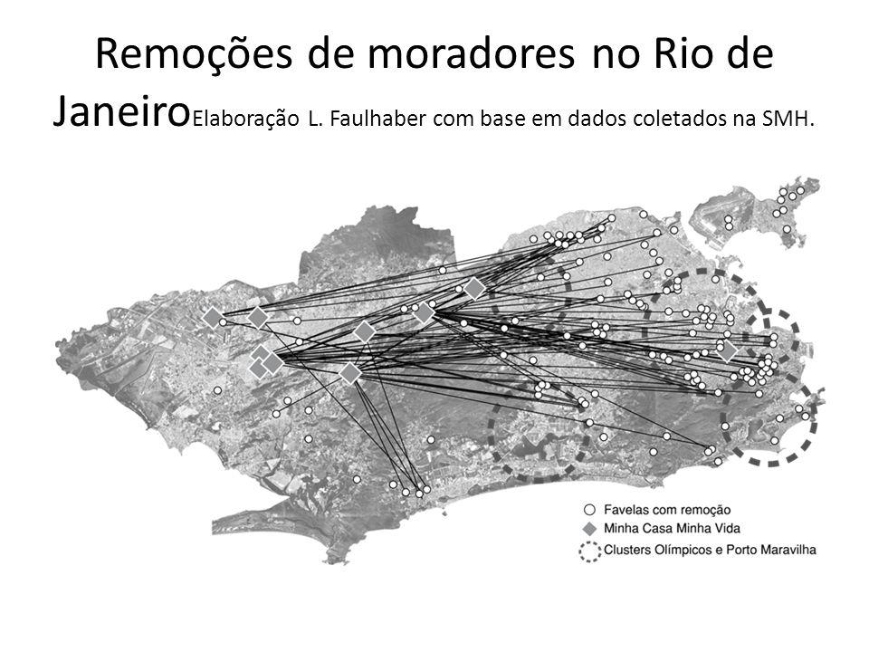 Remoções de moradores no Rio de JaneiroElaboração L