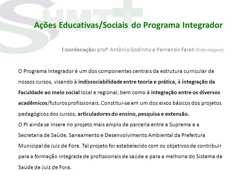 Ações Educativas/Sociais do Programa Integrador