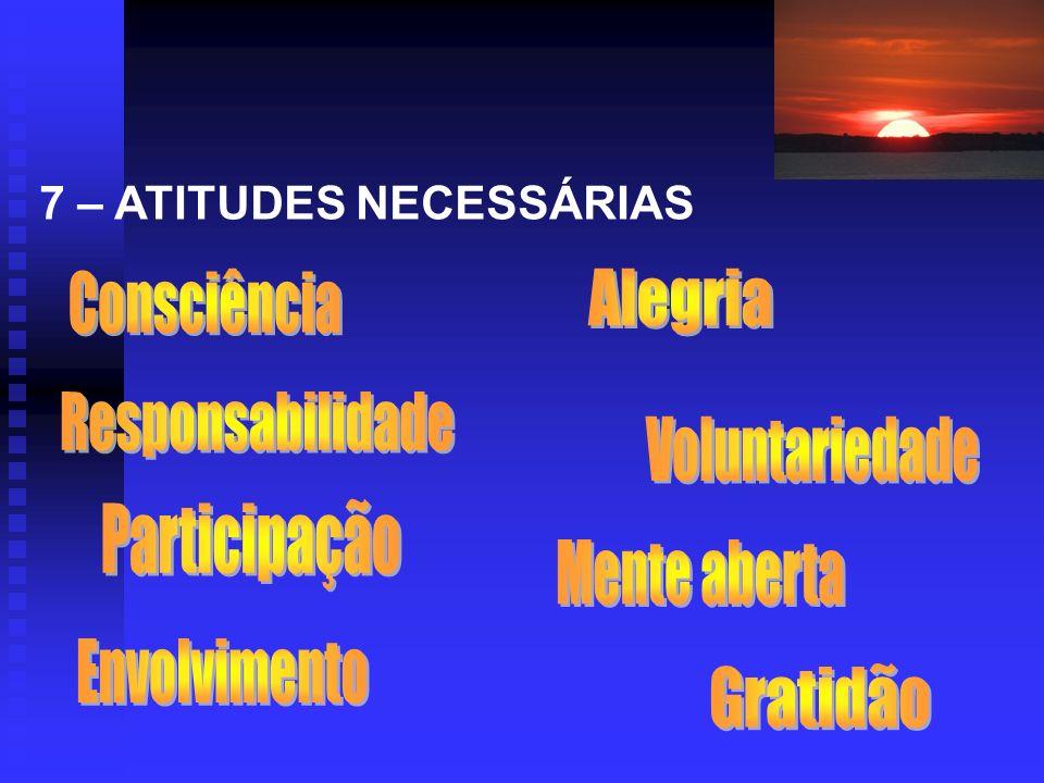 Consciência Alegria Responsabilidade Voluntariedade Participação