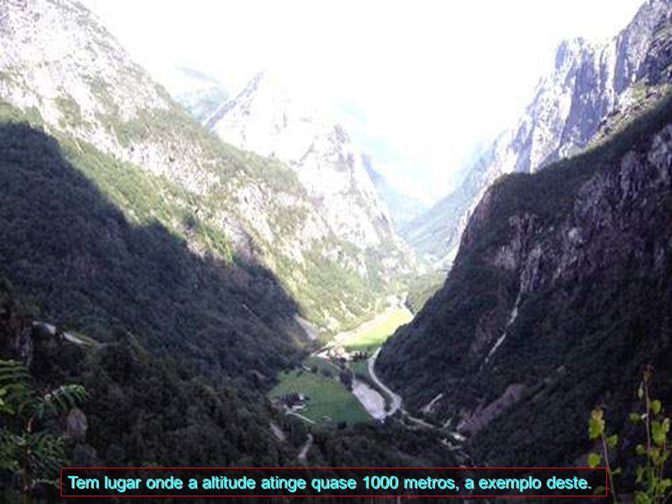 Tem lugar onde a altitude atinge quase 1000 metros, a exemplo deste.